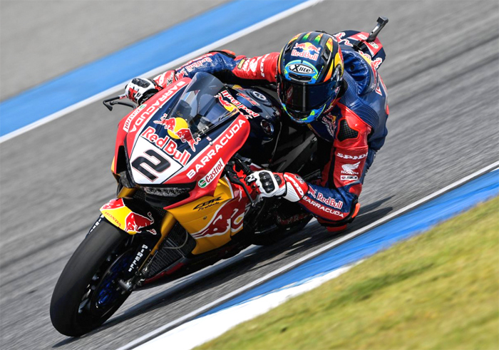 Leion Camier Honda race action SBK