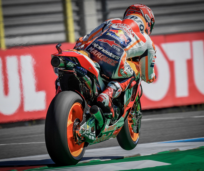 Marc marquez action photo Assen MotoGP