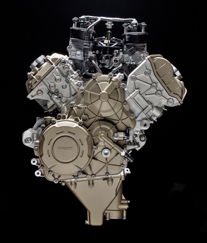 Desmosedici Stradle V4 Superbike engine photo