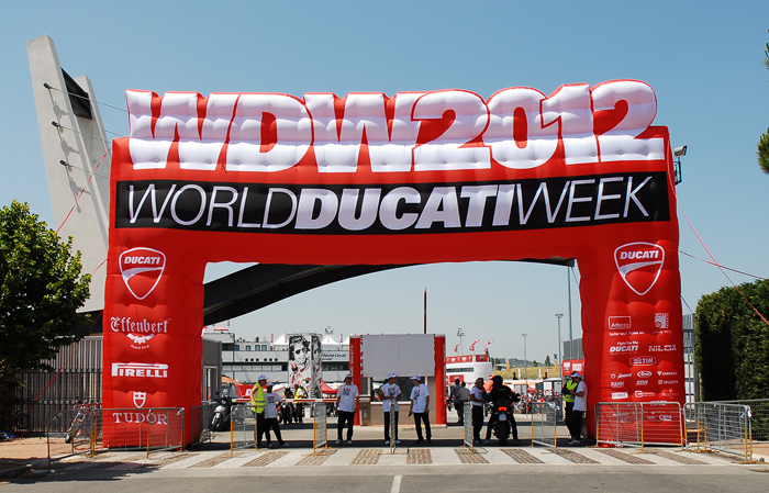 World Ducati week 2012 photos pictures Main Entrance