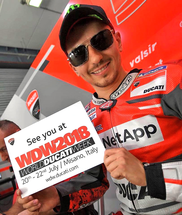 Jorge Lorenzo World Ducati week photo