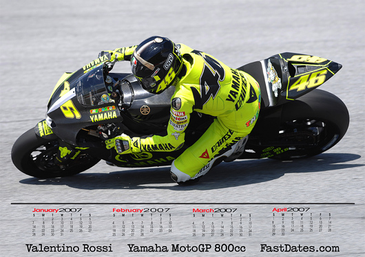 Valentino Rossi M1 Yamaha at Sepang Screensaver